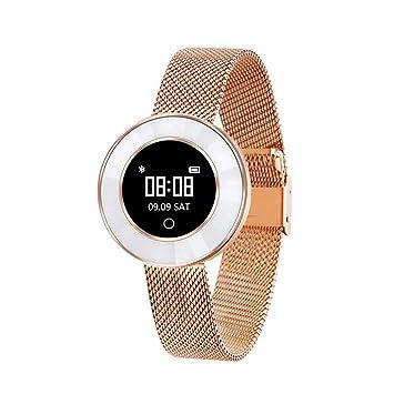 FRJGLAPRE Pulsera de Actividad Reloj Elegante para Mujer Proceso de Corte de Diamante IP68 Impermeable Modo