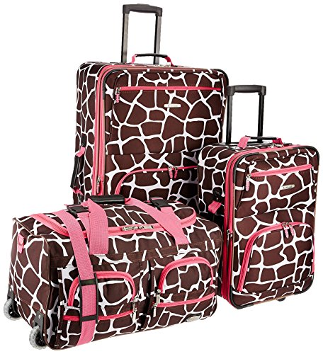 rockland-luggage-3-piece-printed-luggage-set-pink-giraffe-medium