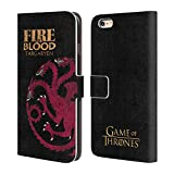 Official HBO Game Of Thrones Targaryen House Mottos Leather Book Wallet Case Cover For Apple iPhone 6 Plus / 6s Plus
