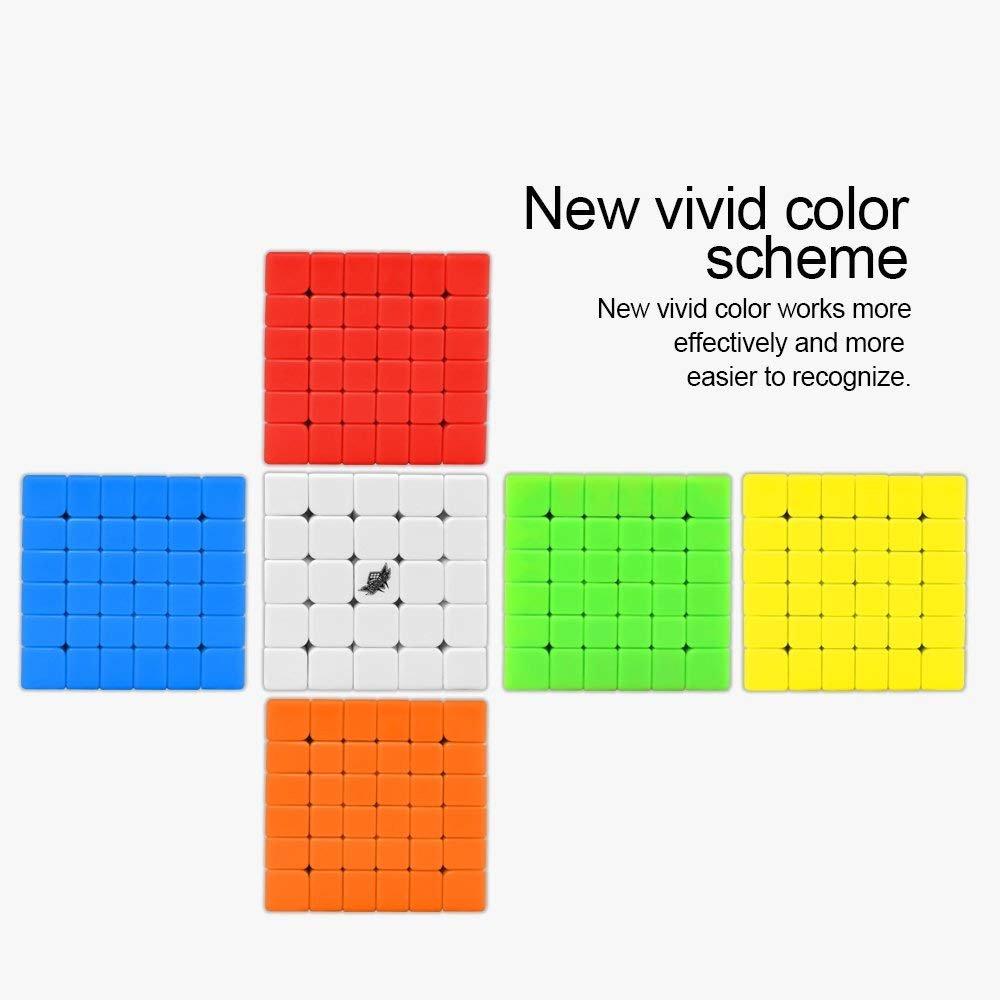 G6 Version Coogam Cyclone Boys 6x6 Cube Magique Professionnel 6x6x6 Cube de Vitesse sans Autocollant Casse-t/ête Puzzle pour Adultes et Enfants 68mm