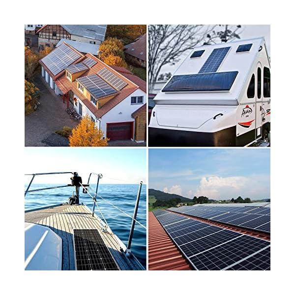 61LKJfm09mL 100W 12V Solarpanel Solarmodul Solarpanel-Set 100 Watt 12 Volt Monokristallines Off-Gitter-System für Wohnmobil, Boot…