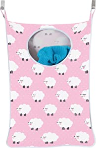 Urban Mom Hanging Laundry Hamper Baby Girl - Pink Sheep