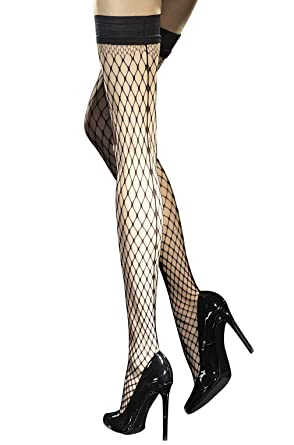 c53755b08 Fiore Luxury Seamed Fishnet Hold Ups (Small