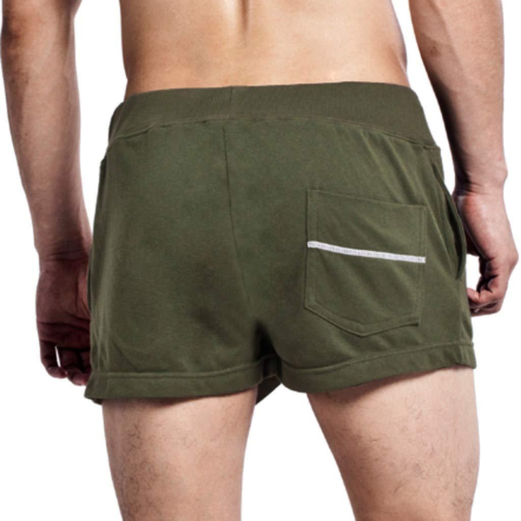 Palarn Sports Pants Casual Cargo Shorts Mens Summer Leisure Cotton Fashion Drawstring Slim Fit Home Sports Shorts Pants