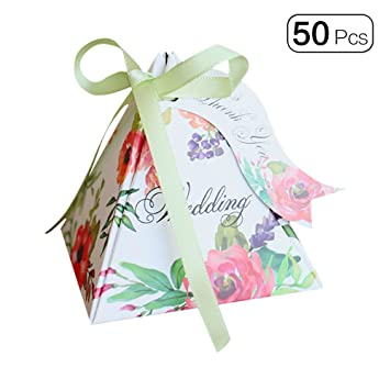 Amazon.com: 50pcs/pack Triángulo de doble cara flor mini ...
