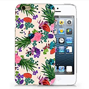 Craftdesign Hard Plastic Matt White Case for Iphone 6, Vintage Flowers