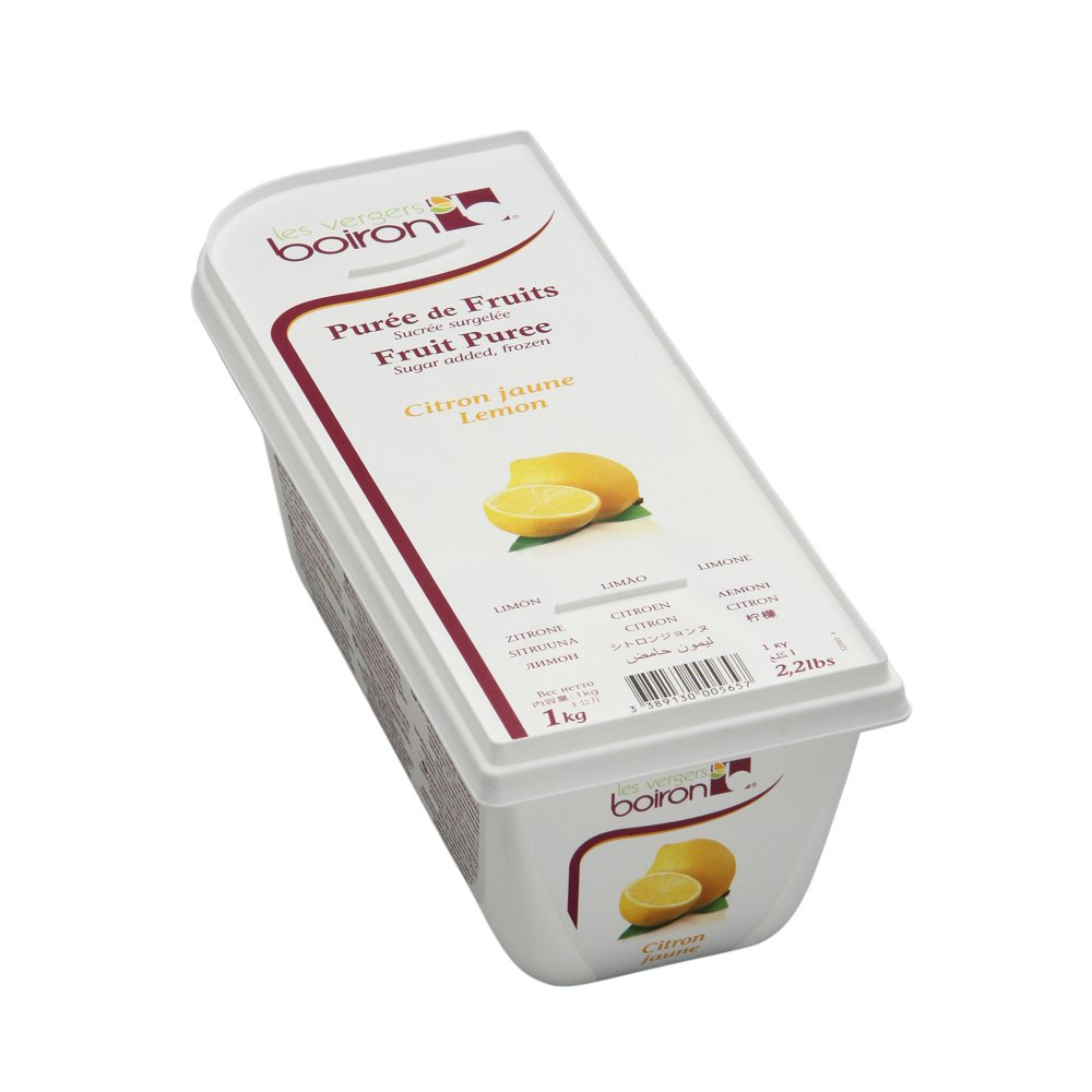 Lemon Puree - Frozen - 84% Fruit - 2.2Lbs - Kosher