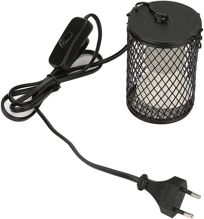Pssopp Emisor de Calor de cerámica 100W Bombilla de la lámpara de Calor del Reptil antiescaldo Bombilla de la lámpara del Calentador de Infrarrojos Bombilla para Lagarto Serpiente Tortuga (Negro)