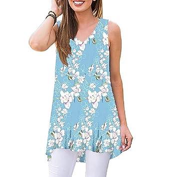 Wave166 Moda Chaleco Corto de Mujer, Patchwork Camisetas sin ...