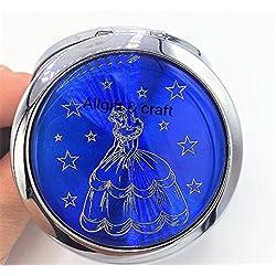 12pcs Quinceanera Favor Sweet 16 Party favors Recuerdos de Quinceanera Double Side Compact Mirror Dark Blue