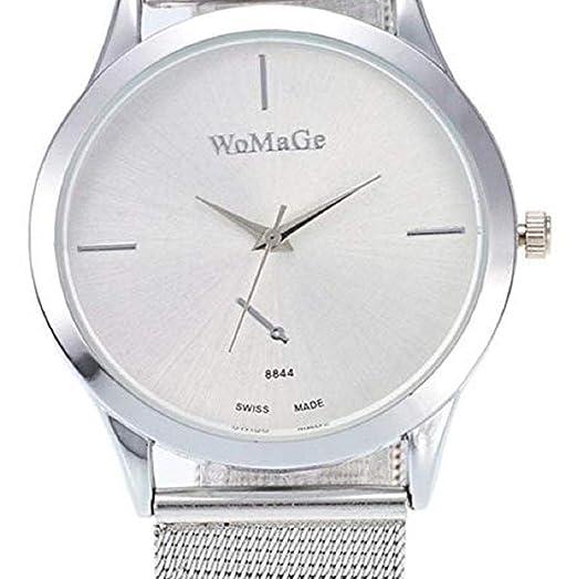 Scpink Relojes de Cuarzo para Mujeres, Relojes de señora de liquidación, Relojes analógicos de Acero Inoxidable para Mujer. (Plateado): Amazon.es: Relojes