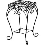 Panacea Products 20-Inch Scroll Plant Stand - Black