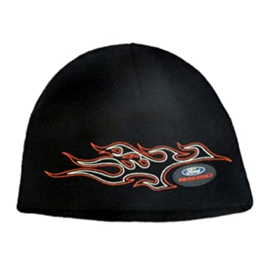 Amazon.com  Ford Racing Mens Black Knit Beanie Winter Hat Stocking ... b35b57f927d