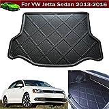 1pcs Black Color Car Boot Pad Carpet Trunk Cargo Liner Floor Mat Molded Cargo Tray Custom Fit For Volkswagen VW Jetta Sedan 2012 2013 2014 2015 2016