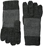 Calvin Klein Men's Birds Eye Back Glove with Touchscreen Technology, Charcoal, One Size