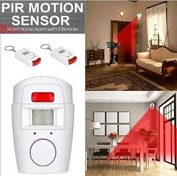 PIR inalámbrico infrarrojos hogar alarma detector de movimiento Alarma + 2 mandos a distancia: Amazon.es: Electrónica