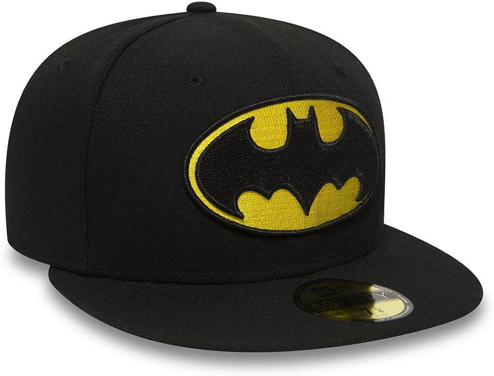 New Era Character Basic Batman Gorra 7 0//0 Unisex Adulto Black//Yellow