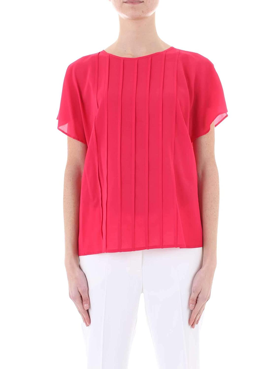 Manila Grace Women's P9SC695VUMD665 Red Viscose Blouse