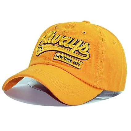 Mznwpm Unisex Fashion Cotton Baseball Cap Snapback Sombrero De Los Hombres Las Mujeres Sol Sombrero Gorras