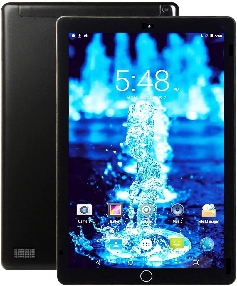 Tableta 10.1 Pulgadas Pantalla HD IPS Android 9.0 - Tablet 4G con 2 Ranuras para Tarjetas SIM 3GB RAM 32GB de Memoria Quad Core Batería 8000mAh, WiFi, Bluetooth, GPS, OTG