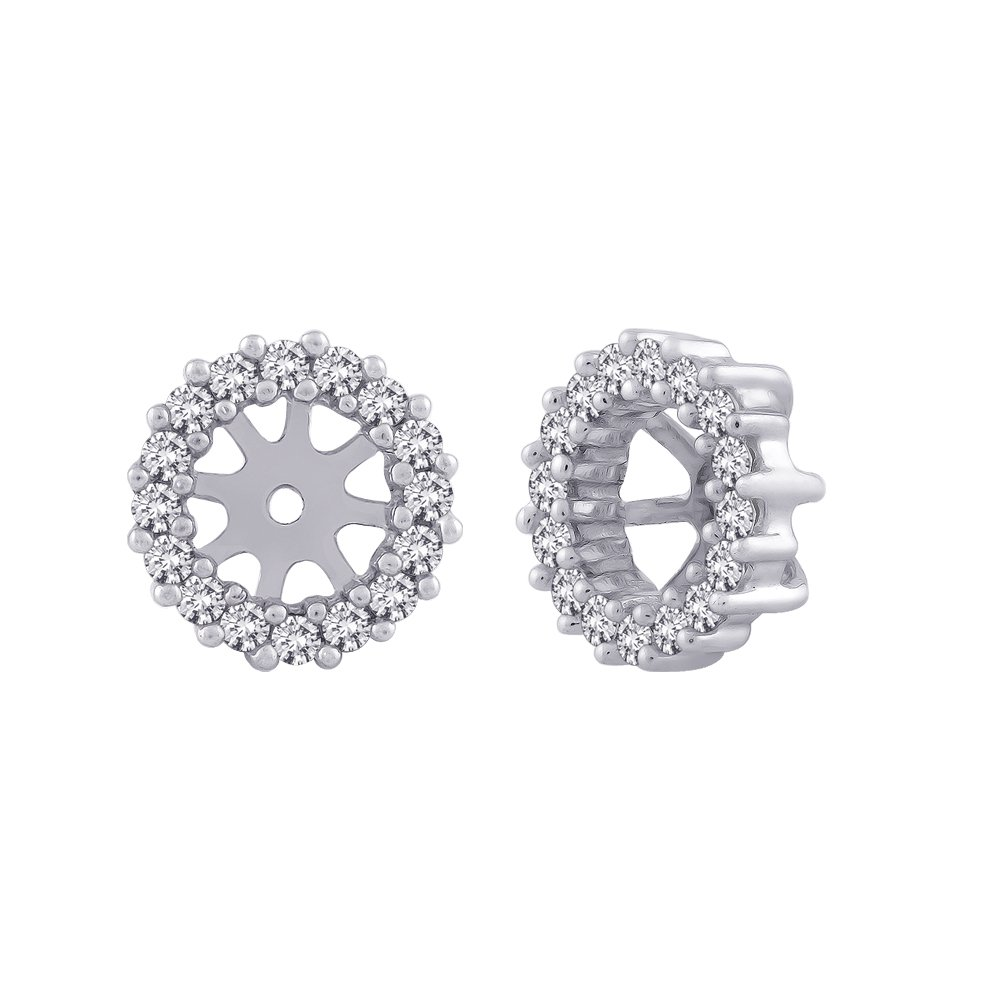 Diamond Earring Jackets in 14K White Gold (1/3 cttw) (Color GH, Clarity I1-I2)