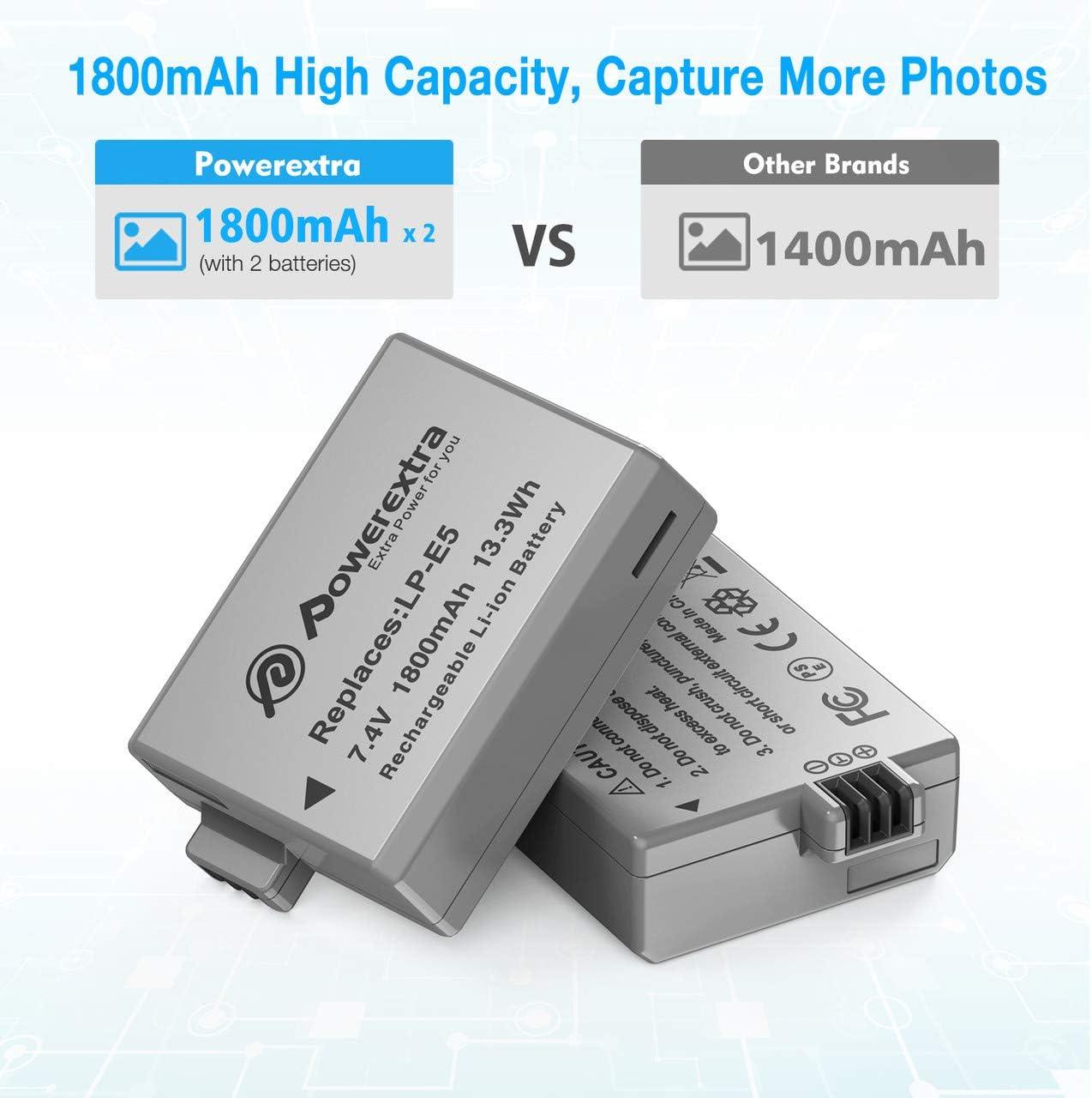 Amazon.com: Powerextra - Juego de 2 baterías de repuesto ...