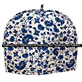 Decorative Tea Cosy Vintage White Creative Printed Cotton Tea Cozy By Sophia Art (blue)