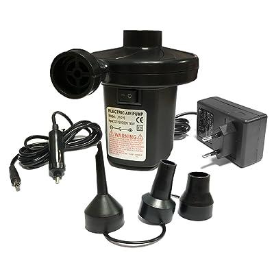 Pompe électrique, sounor Pompe à air électrique + 3embouts pour matelas gonflable, Tuyau de Bateaux, matelas, animaux de natation gonflable ou camping–Automatique et rapide sur et