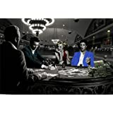 Royal Flush with James Dean Marilyn Monroe Elvis Presley and Humphrey Bogart by Chris Consani 36x24 Art Print Poster Wall Decor Celebrity Movie Stars Playing Poker in Casino Icons Hollywood