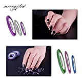 1/2/3 mm Matte Nail Striping Tape Manicure Decal 18 Pcs Mixed Colors Rolls Striping Tape Line DIY Nail Art Tips Decoration Sticker Nail Care