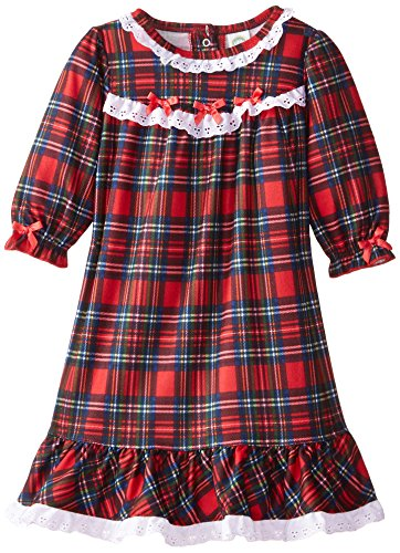 Little Me Baby Girls' Christmas Plaid Gown, Red Plaid, 24 Months -