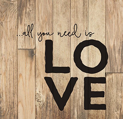P. GRAHAM DUNN All You Need is Love Rustic 24 x 25 Wood Pallet Wall Art Sign Plaque For Sale