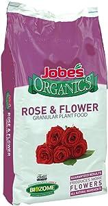 Jobe's Organics 9423 Easy Gardener Jobes 09423 Organic Rose Granular Fertilizer, 16-Ounce, 16 lb