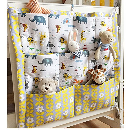 Nursery & Diaper Hanging Organizers Diaper Bag Storage Stacker for Baby Bed Crib