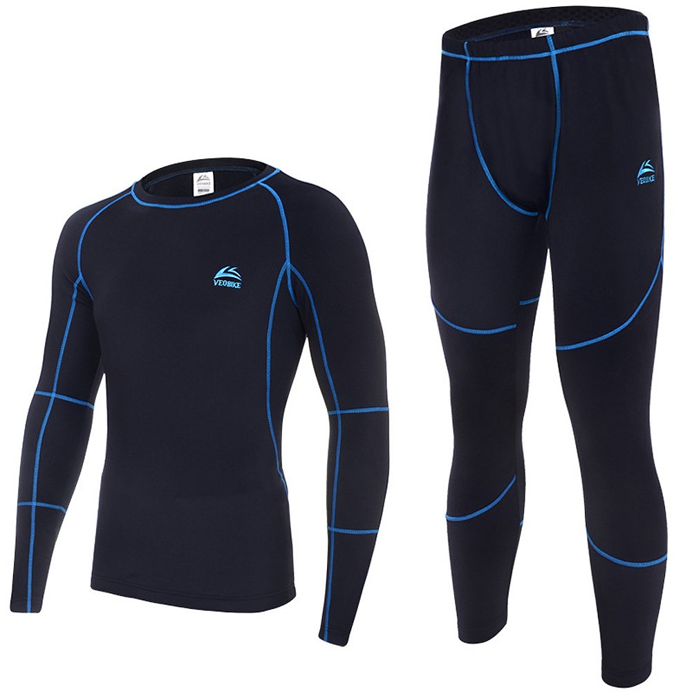 iLory Men's Thermal Underwear Sets Outdoor Sports Apparel Warm Tight Riding Clothes
