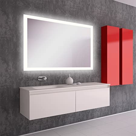 Badezimmerspiegel Hohe.Led Badezimmerspiegel Badspiegel Wandspiegel Bad Spiegel Lichtspiegel S40 Breite 150 X Hohe 80 Cm Amazon De Kuche Haushalt