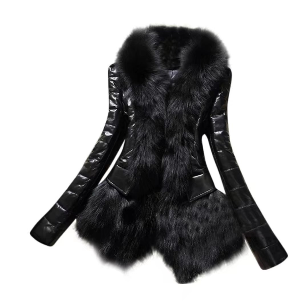 OutTop Women's Faux Fur Jacket Fashion Ladies Coat Winter Warm Long Sleeve Tops