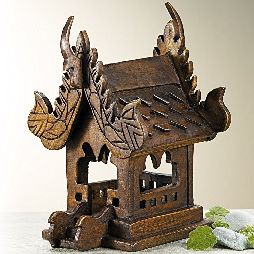Smithsonian Hand-Carved Thai Spirit House by Smithsonian