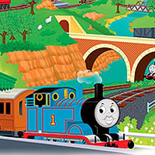 - Thomas Train Tank Engine Self-Stick Wall Accent Mural Set