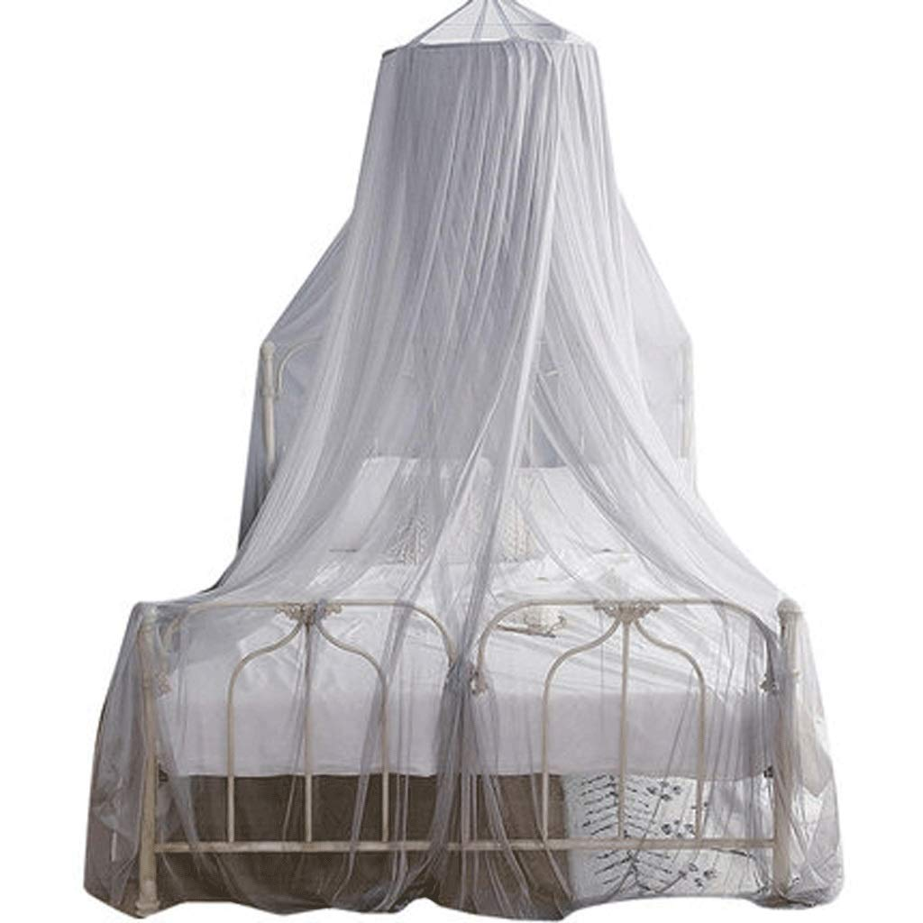 Mosquito Net Dust top Zipper Drop Children 1.5/1.8m Bed 2 m Household encryption Thickening Princess Wind (Color : A, Size : 1.5m Bed)