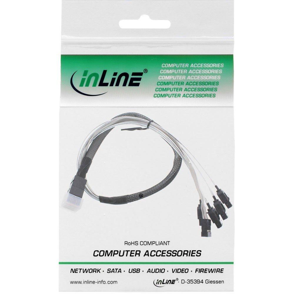 inLine c/âble mini sAS hD sFF 27630A 0,5 m 8643 4 x sATA sideband