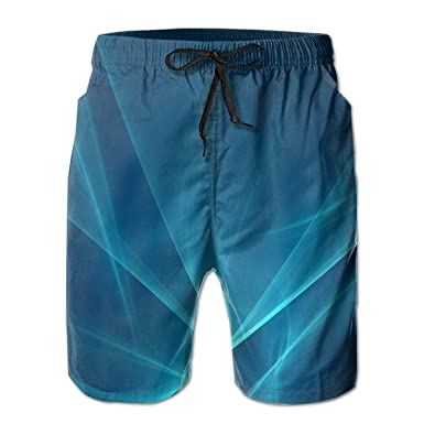 e8203347cb Zhiwei Station Galaxy Men's Casual 3D Printed Summer Drawstring Beach  Shorts Beach Pants White