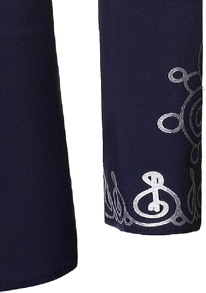 Comaba Mens Premium Plus Size Mandarin Collar African Flannel Shirts
