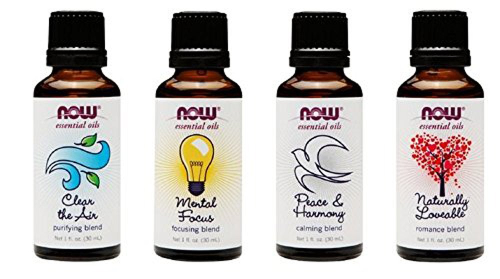 4-Pack: Now Foods Mood Lifting Variety Essential Oil Blends - 1oz Each by NOW Foods
