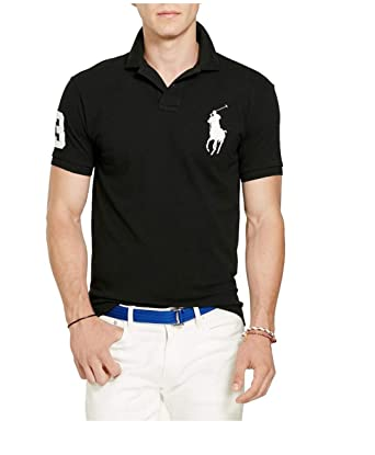 665b8c47 Polo Ralph Lauren Mens Custom Fit Big Pony Logo Polo Shirt at Amazon Men's  Clothing store: