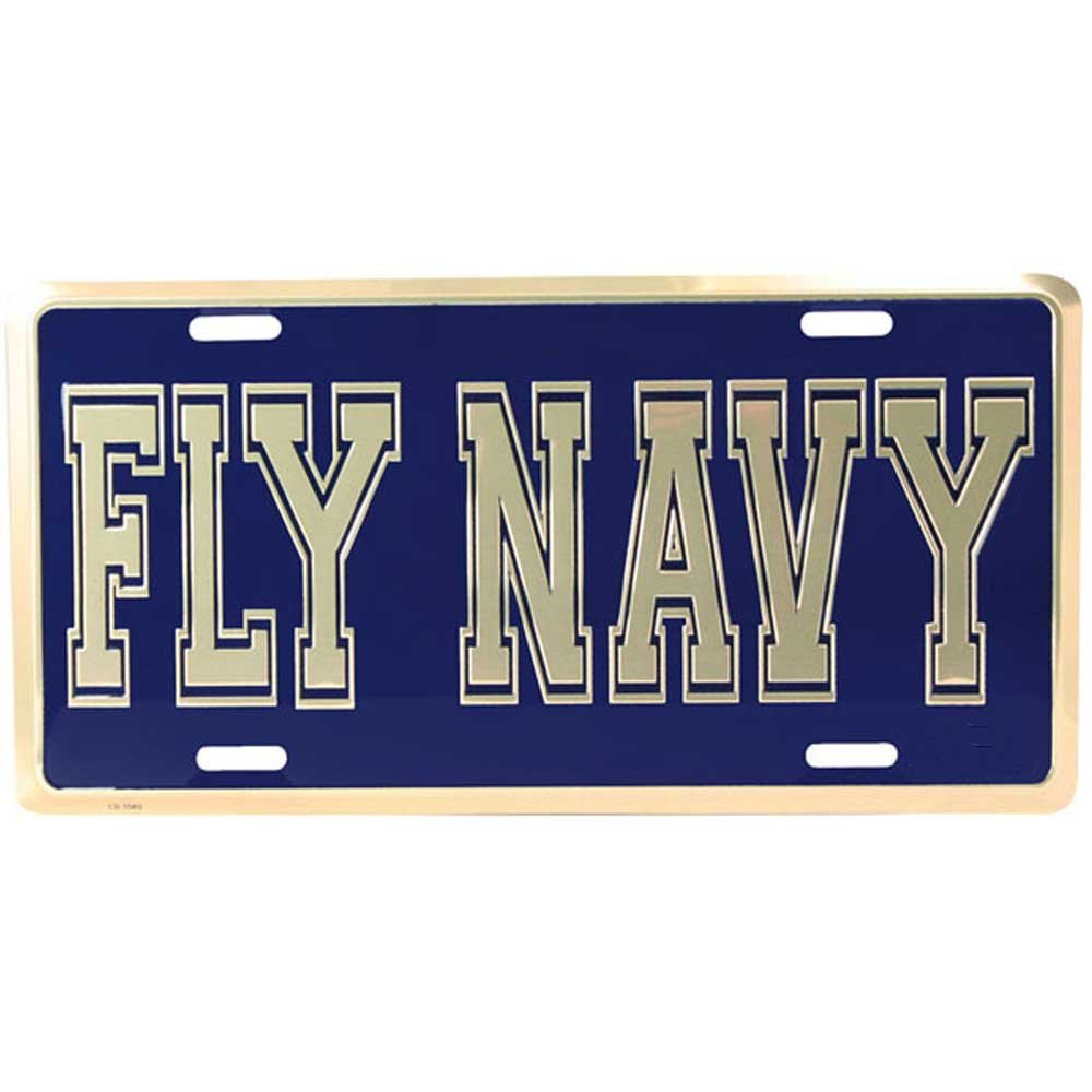 Honor Country Fly Navy License Plate Mitchell Proffitt