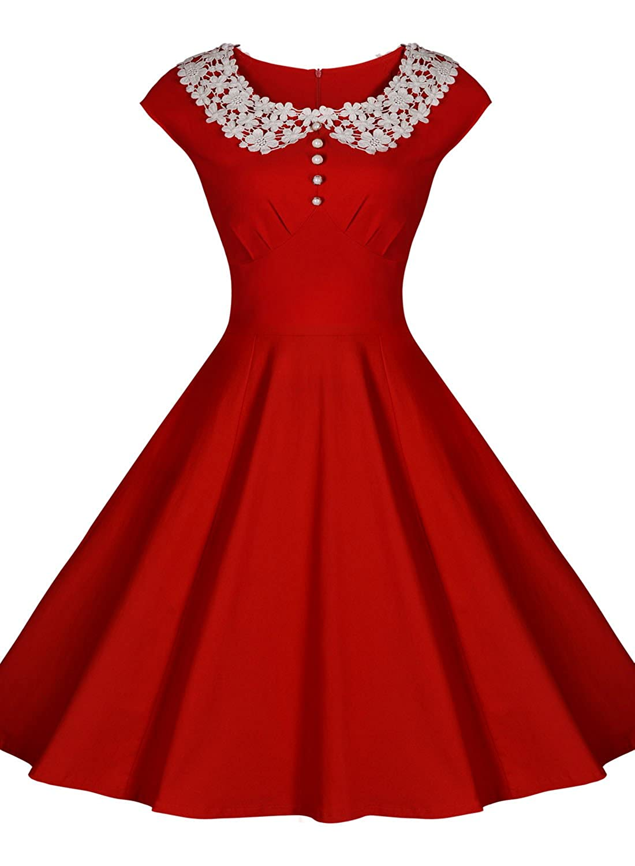 Miusol Women Classy Vintage Audrey Hepburn Style 1940 Rockabilly ...