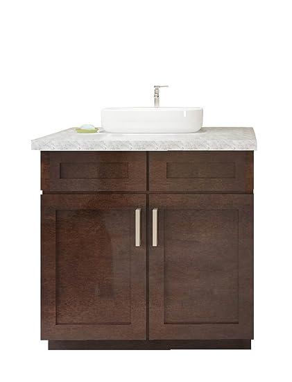 Amazon.com: Cowry Cabinets Inc. Shaker Style Real Wood ...