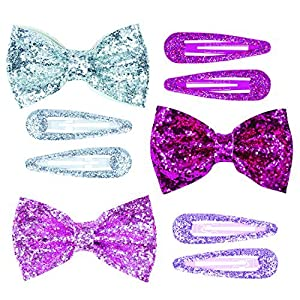 Pink Poppy Sparkle Collection Bow Hair Set by Pink Poppy