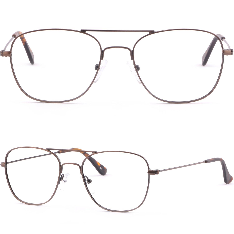 Light Mens Womens Thin Metal Frames Prescription Sunglasses Glasses Brown
